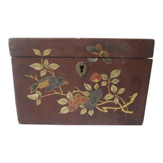 1930s Chinese Brass and Walnut Box For Sale