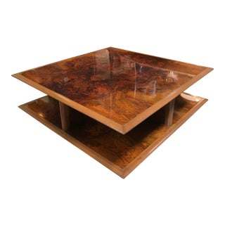 Vintage Gucci Square Coffee Table For Sale