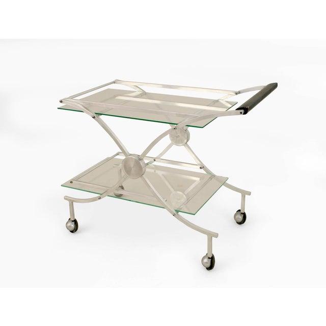 Modern American Art Moderne 1930s-1940s Aluminum Bar Cart For Sale - Image 3 of 3