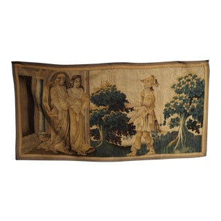 Antique Tapestry Fragment From Flanders, 1600s For Sale