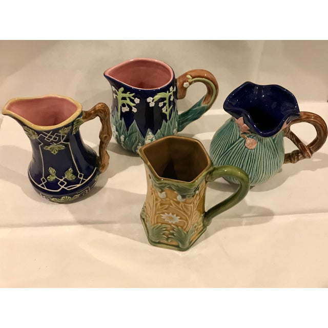 Jay Wilfred for Charles Sadek Inc. Majolica Pitchers - Set of 4 - Image 11 of 11