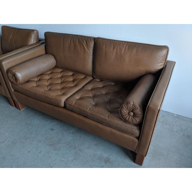 Vintage Mid Century Mies Van Der Rohe for Knoll Settee For Sale - Image 4 of 11