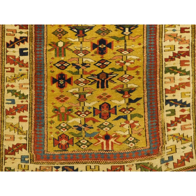 Traditional 1900s Antique Caucasian Shirvan Runner For Sale - Image 3 of 13