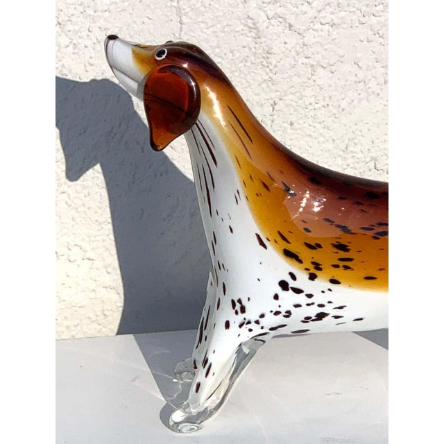 Glass Murano Glass Figure of Spotted Dog For Sale - Image 7 of 12