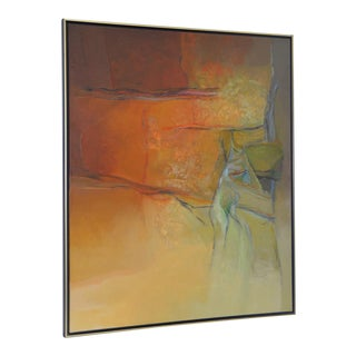 """Alexander Nepote """"Summit Bluff"""" Monumental Modernist Landscape Oil Painting C.1970"""