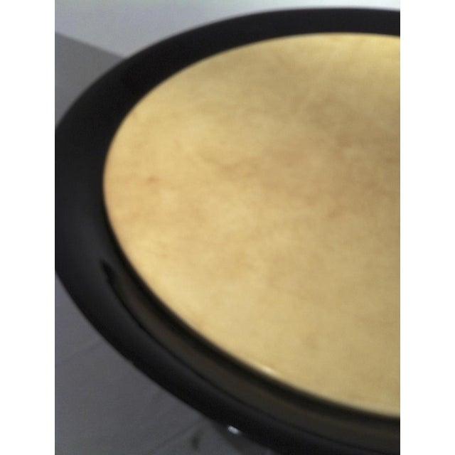 912730264dd De Coene Frères De Coene Chic Round Black Lacquered   Parchment Top Coffee  Table For Sale