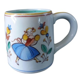 20th Century Folk Art Arabia of Finland Ceramic Mug