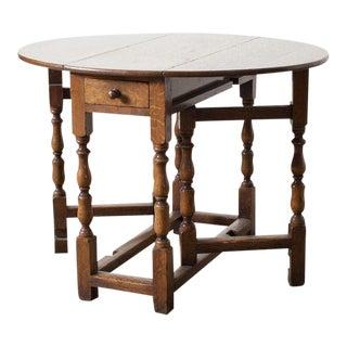 1800s Antique Gateleg Table For Sale