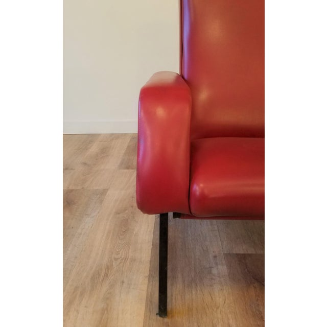 """Vintage Pierre Guariche """"Trelax"""" Reclining Lounge Chair For Sale - Image 9 of 12"""