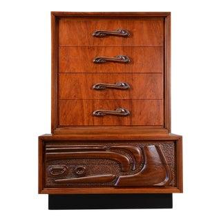 Sculptural 'Oceanic Tiki' Highboy Dresser