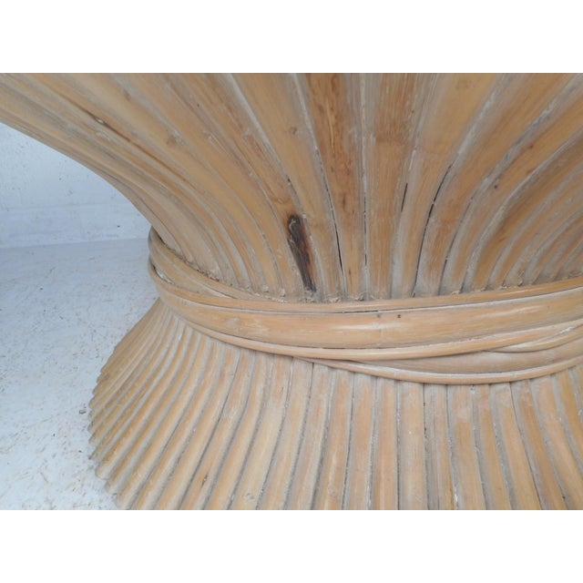 Vintage Modern McGuire Bamboo Wheat Sheaf Coffee Table For Sale In New York - Image 6 of 11