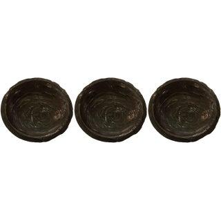 Large Wooden Bowls - Set of 3 For Sale