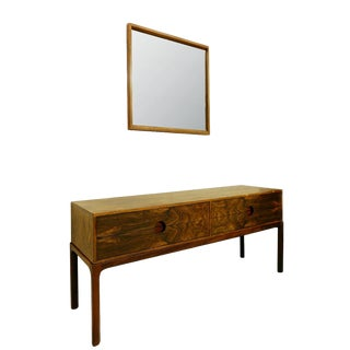 1960s Console and Mirror by Kai Kristiansen for Aksel Kjersgaard, Danemark For Sale