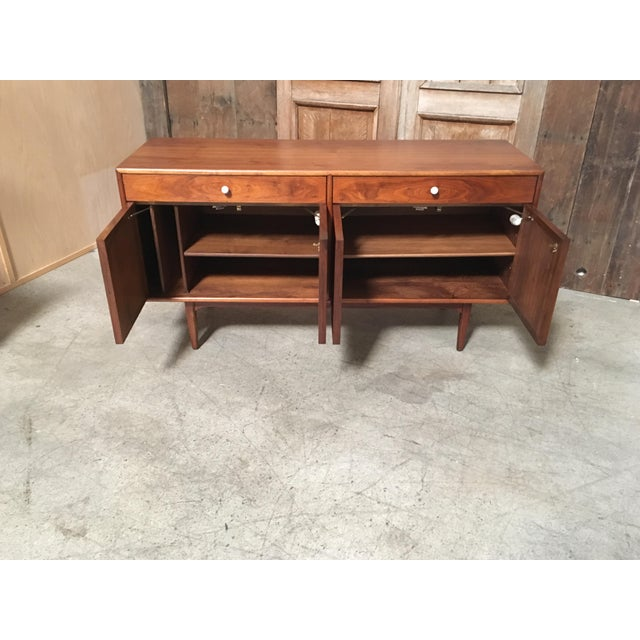 Drexel Declaration Kipp Stewart Walnut Credenza For Sale - Image 4 of 11