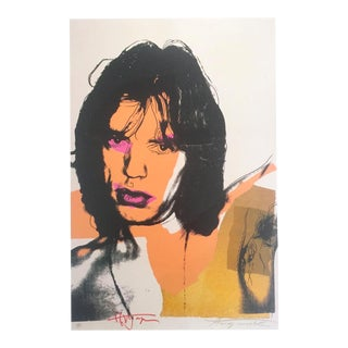 "Andy Warhol Estate Rare Vintage 1989 Collector's Pop Art Lithograph Print "" Mick Jagger "" 1975 For Sale"