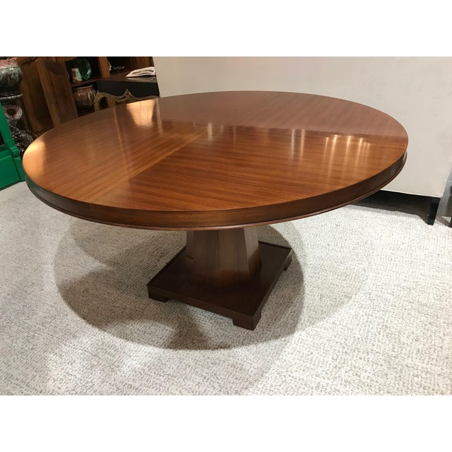 Modern Barbara Barry for Henredon Arts and Crafts Ascot Mahogany Dining Table For Sale - Image 3 of 12