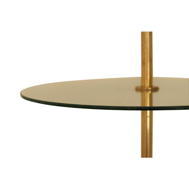 Art Deco Brass and Glass Floor Lamp For Sale - Image 4 of 6