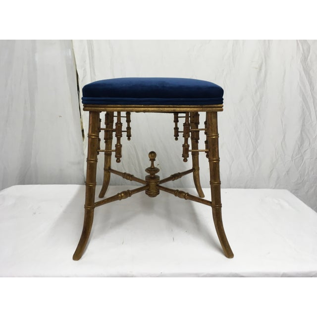 Antique Faux Bamboo Stool For Sale - Image 11 of 11