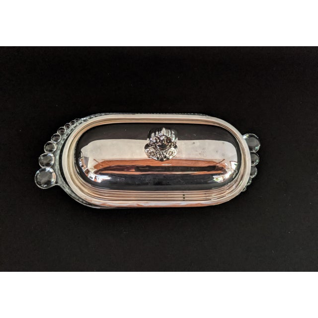 Rogers Bros Silver Plate Butter Dish With Lid For Sale - Image 9 of 12