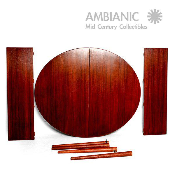 Teak Scandinavian Modern Swedish Oval Dining Table For Sale - Image 7 of 9