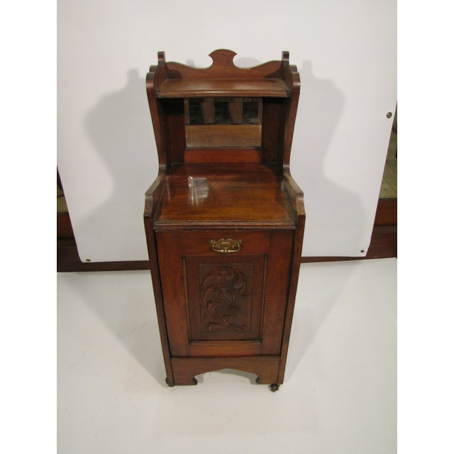 Brown English Wooden Coal Hod For Sale - Image 8 of 8