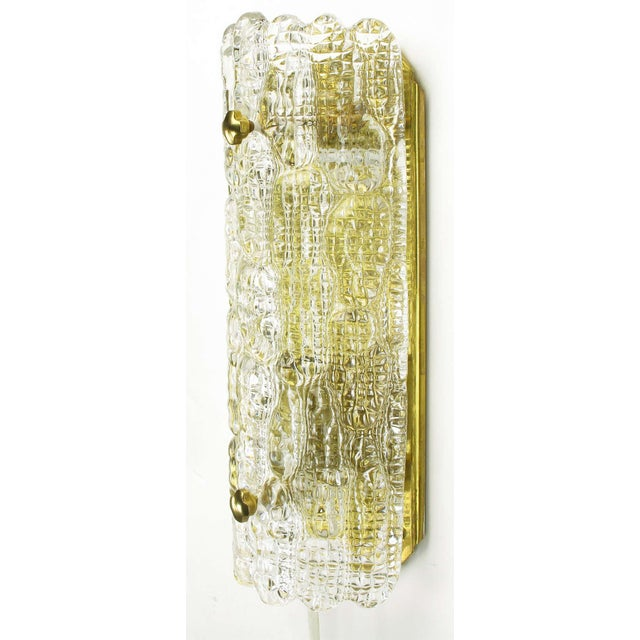 Pair Carl Fagerlund For Orrefors Glass & Brass Sconces - Image 5 of 10