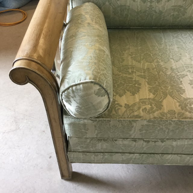 Palm Beach Regency Dorothy Draper Style Fretwork Sofa - Image 7 of 12