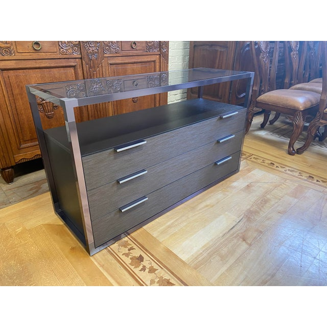 "Contemporary Ligne Roset Didier Gomez ""Dedicato"" Wide 3-Drawer Chest For Sale - Image 3 of 10"