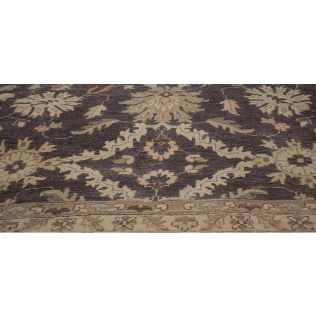 Textile Kafkaz Peshawar Adena Charcoal/Tan Hand-Knotted Rug - 11'10 X 15'1 For Sale - Image 7 of 8