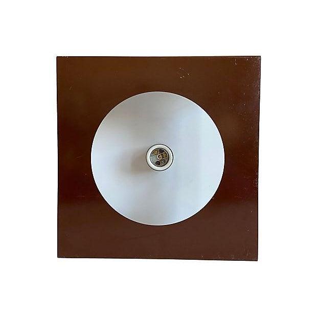 Metal 1970s Geometric Steel Light For Sale - Image 7 of 11