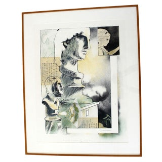 """Mid-Century Modern """"Matter of Aesthetics"""" Mixed Media Signed Collage For Sale"""