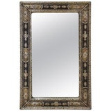 Image of Moroccan Rectangular Metal Inlaid Mirror For Sale