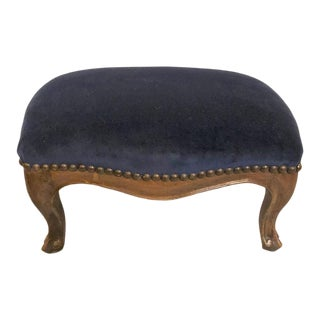 19th Century French Provincial Walnut Footstool For Sale