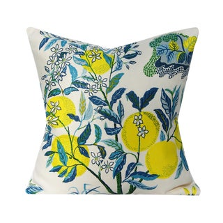 Contemporary Josef Frank Citrus Garden in Pool Pillow Cover For Sale