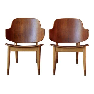 Ib Kofod-Larsen for Christiansen & Larsen Chairs - a Pair For Sale