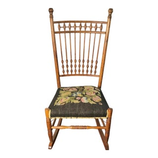 19th Century Hand Crafted Low Rocking Chair For Sale
