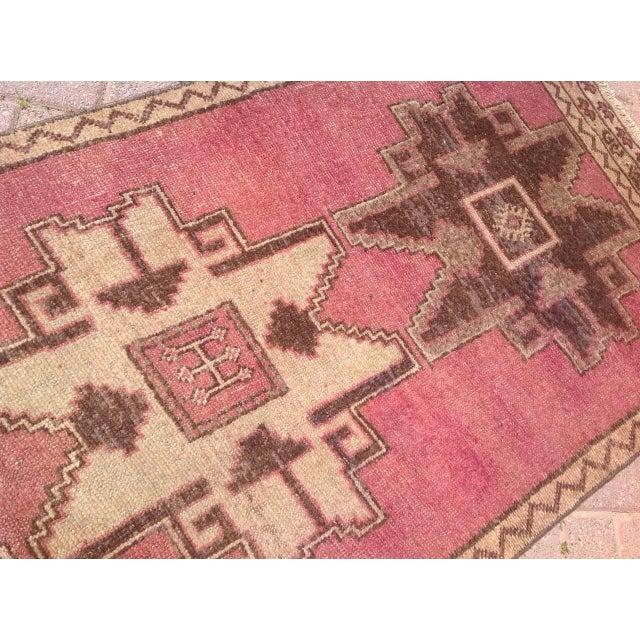 Textile Vintage Hand Knotted Anatolian Runner For Sale - Image 7 of 8