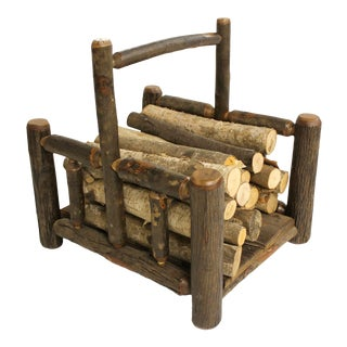 Hickory Log Holder For Sale