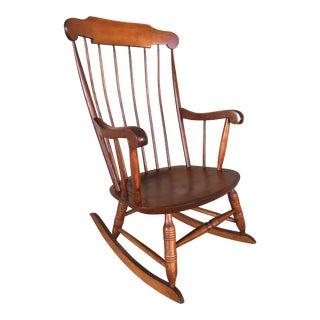 Nichols & Stone Solid Maple Boston Style Windsor Rocking Chair