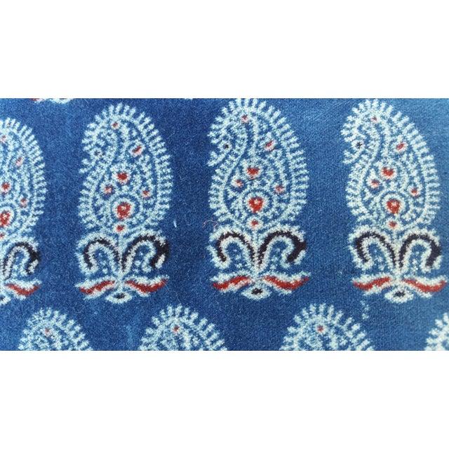 Faded Indigo Velvet Pillows - A Pair - Image 4 of 6