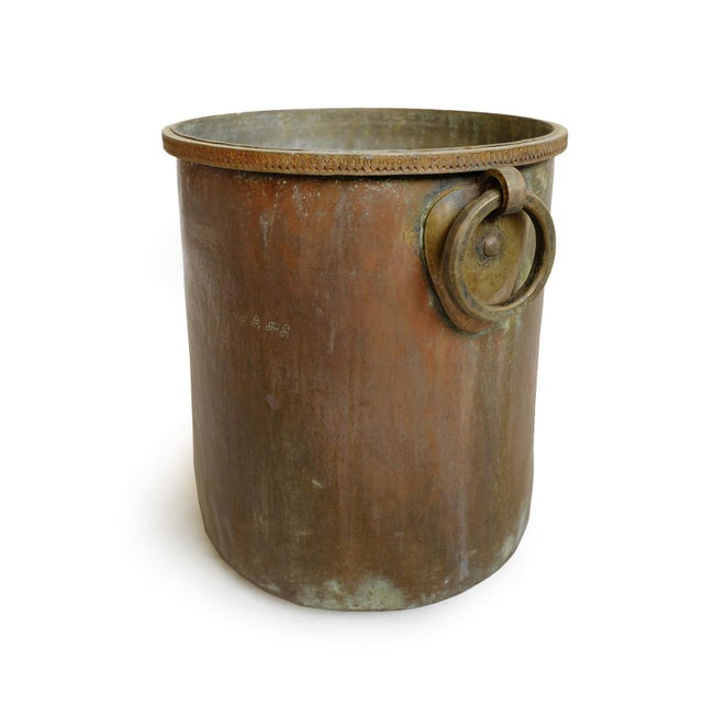Indian Antique Brass & Copper Hammered Pot For Sale - Image 3 of 8
