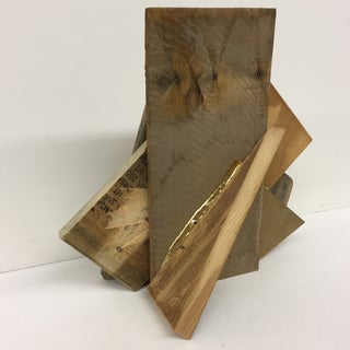 Industrial Wood Sculpture Bookend Preview