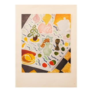 """1946 Henri Matisse, Original Period """"Still Life on Marble Table"""" Lithograph For Sale"""
