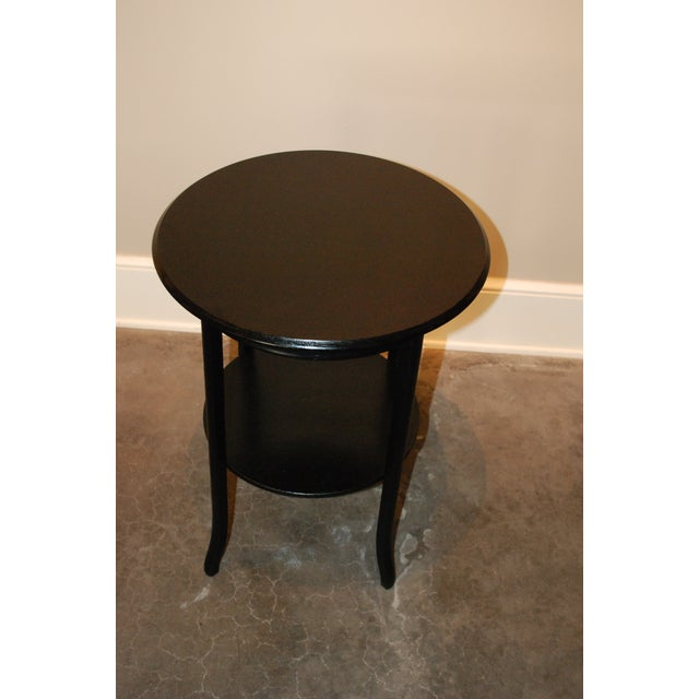 Black Round Side Table - Image 3 of 5