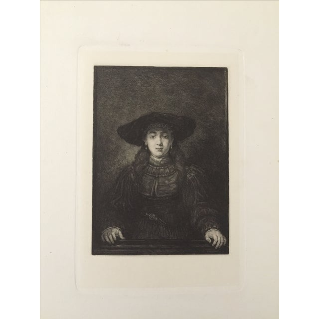 Portrait of a Woman Master Etching 19th Century - Image 2 of 4