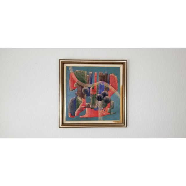1990 Anna Goncharova Postmodern Style Abstract Painting For Sale - Image 13 of 13