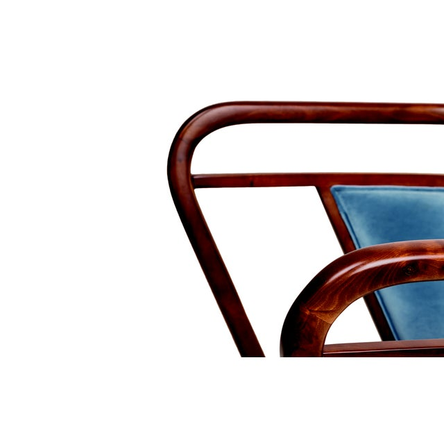 Not Yet Made - Made To Order Contemporary Empire Collection Mid Century Scandinavian Walnut Lounge Chair For Sale - Image 5 of 6