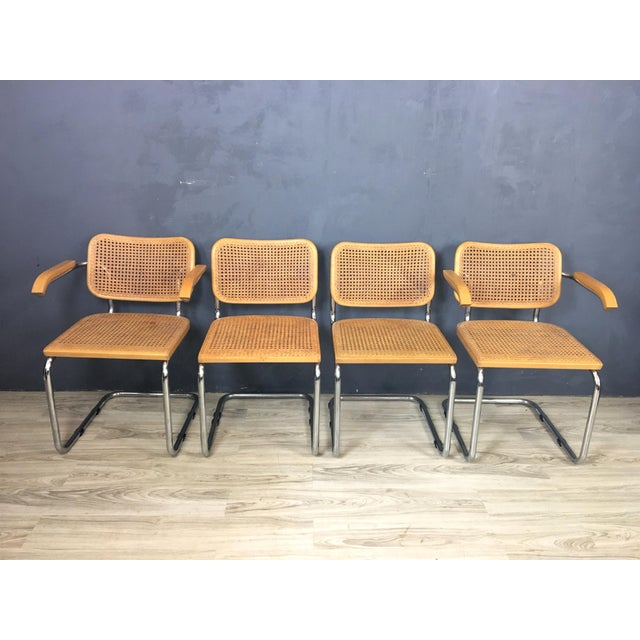 Italian Marcel Breuer Style Chairs - Set of 4 - Image 2 of 7