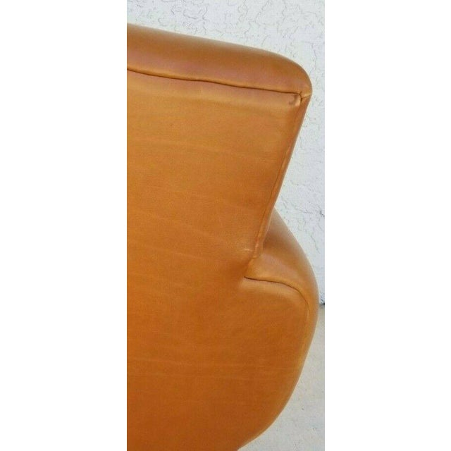Camel MCM Ralph Lauren Genuine Leather Club Lounge Armchair For Sale - Image 8 of 12