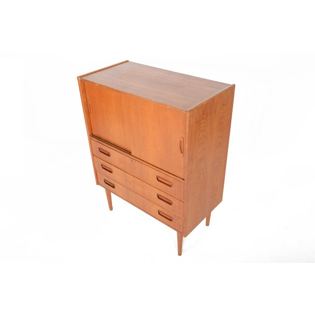 Tibergaard Danish Modern Teak Bureau Dresser For Sale - Image 9 of 10